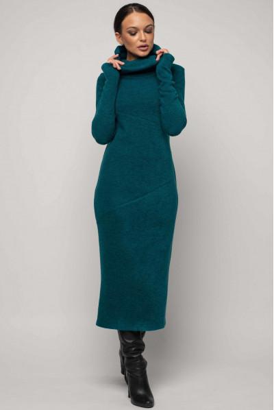 Оригінальне плаття кольору морської хвилі