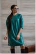 Бірюзове привабливе стильне плаття