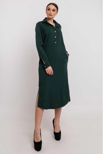 Смарагдове універсальне плаття-рубашка