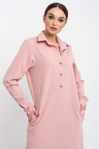 Пудрове ніжне плаття-рубашка