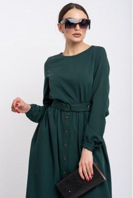 Зелене модне жіночне плаття