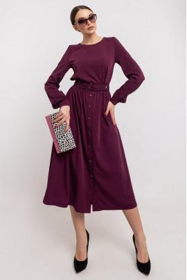Бордове нарядне плаття міді