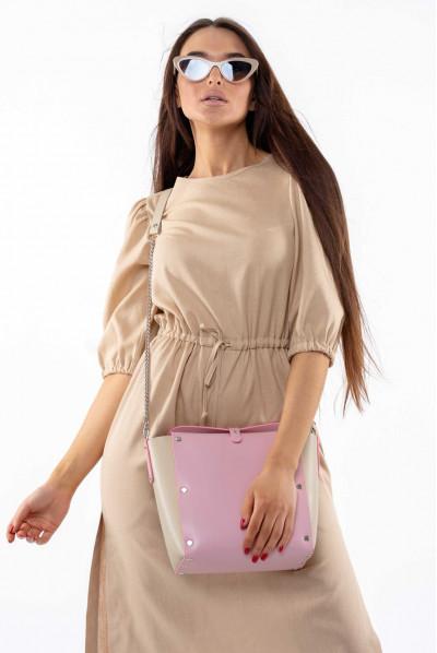 Бежеве літнє стильне плаття