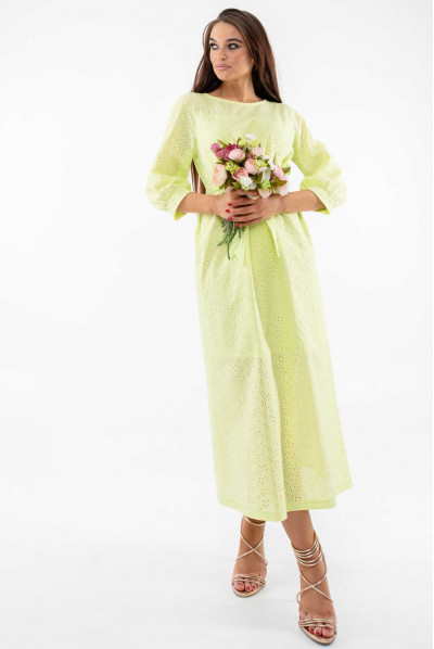 Нарядне ніжне плаття кольору лайм