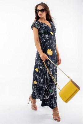 Чорне легке плаття максі
