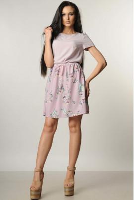 Лілове ніжне стильне плаття