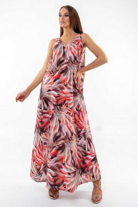 Елегантний червоний вільний сарафан на літо