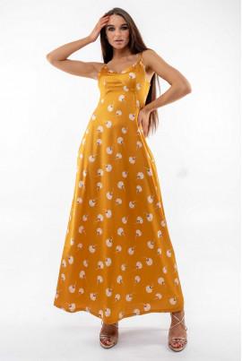 Літній витончений сарафан золотого кольору