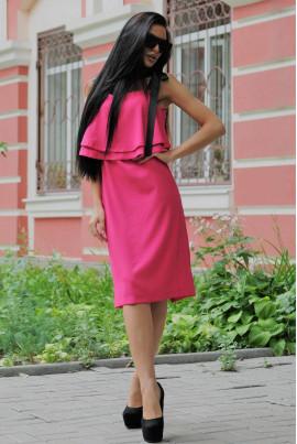 Яскравий літній сарафан кольору фуксія