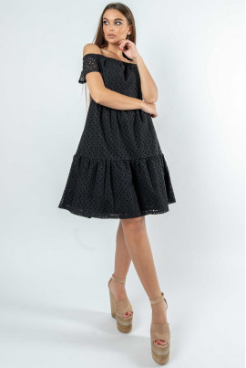 Чорне розкішне плаття міні
