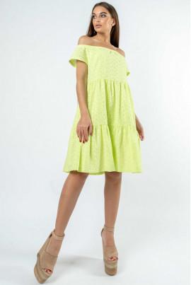 Ніжне літнє плаття кольору лайма
