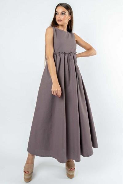 Лавандове вишукане плаття максі