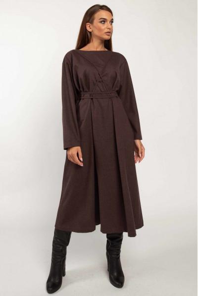 Привабливе плаття кольору баклажан для жінок з апетитними формами