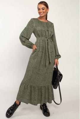 Жіночне плаття кольору хакі великих розмірів