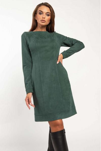 Смарагдове плаття міні для повних жінок
