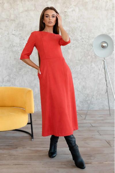 Червоне гармонійне плаття великиз розмірів