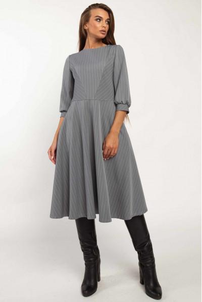 Сіре ділове плаття великих розмірів