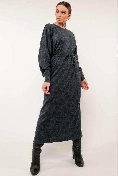 Темно-синє універсальне практичне плаття