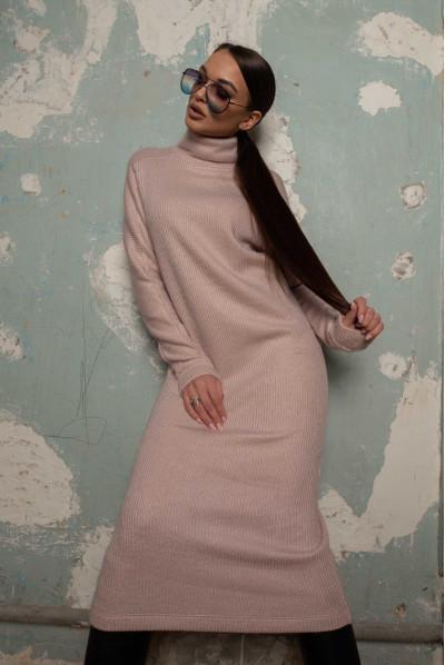 Пудрове привабливе тепле плаття великих розмірів