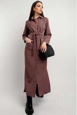 Жіночна базова сукня-сорочка кольору пилова троянда