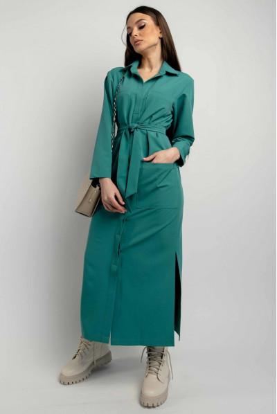 Жіноче плаття-рубашка великих розмірів кольору бриз