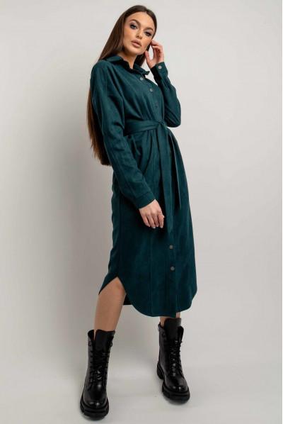 Актуальна жіноча сукня-сорочка кольору бриз