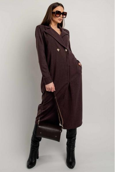 Елегантне практичне плаття кольору баклажан