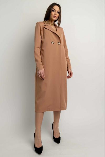 Привабливе плаття великого розміру кольору кемел