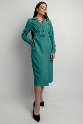 Стильне жіноче плаття-піджак кольору бриз