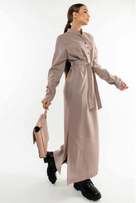 Лілове неймовірно стильне плаття-сорочка максі