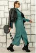 Жіночна однотонна довга сукня-сорочка кольору бриз