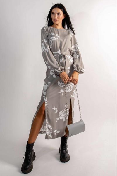 Дивовижна жіноча сукня міді кольору хакі