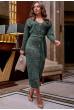 Зелене привабливе плаття міді