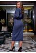 Синє оригінальне плаття міді