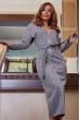 Оригінальна сіра сукня міді довжини на дві сторони