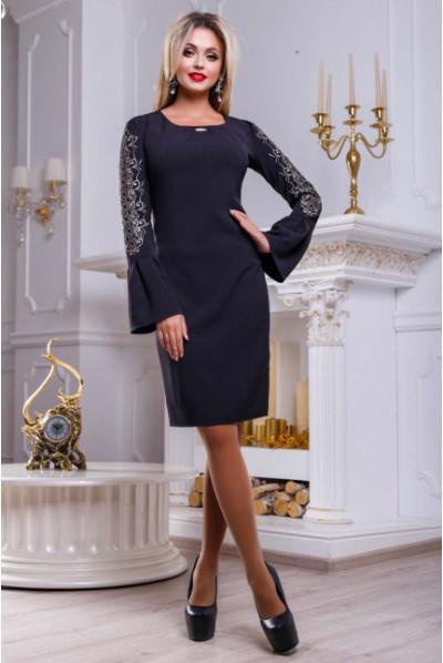 Чорне роскішне вечірнє плаття