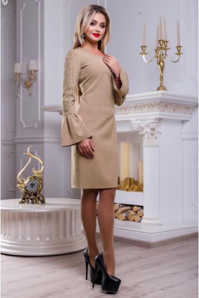 Кавове елегантне плаття міді