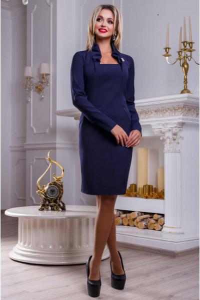 Синє привабливе нарядне плаття