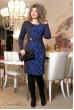 Темно-синє плаття з принтом кольору електрик