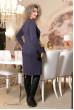 Темно-синє класичне плаття з принтом
