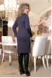 Темно-синє жіночне плаття з кораловим принтом