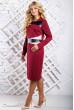 Марсалове плаття зі вставками з еко-шкіри