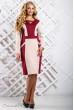 Стильне приталене плаття бежево-червоне