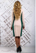 Стильне приталене плаття бежево-зелене
