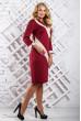 Трикотажне бордове плаття з діагональними вставками