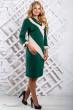 Трикотажне темно-зелене плаття з діагональними вставками
