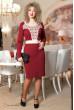 Елегантне бордове офісне плаття