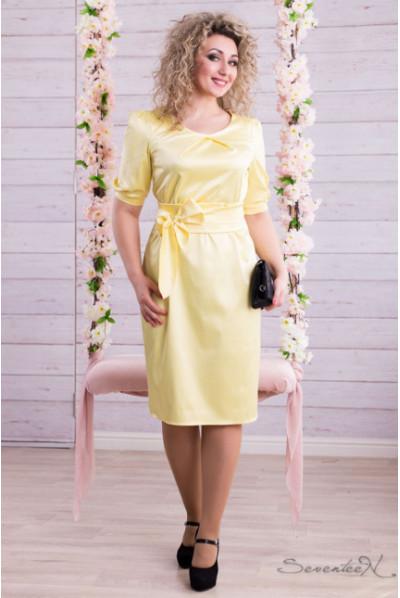 Сонячне нарядне плаття з шовку