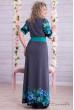 Довге самобутнє плаття з блакитними квітами