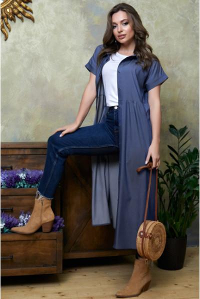 Модне джинсове плаття трансформер синє